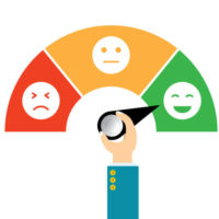 Vector illustration icon emoticon flat design. Concept feedback service, Customer experience scale rating.